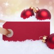 Red Tag as Christmas Background — Stock Photo