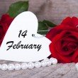Valentines Background with Roses — Stock Photo #38630263