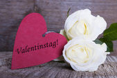 Background with Valentines Day Label — Stock Photo