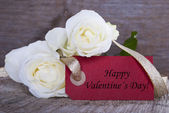 Label with Happy Valentines Day — Stock Photo