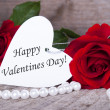 Background with Happy Valentines Day — Stock Photo #38729891