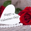 Stock Photo: Background with Happy Valentines Day