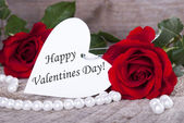Background with Happy Valentines Day — Stock Photo