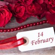 Stock Photo: Background with 14 February