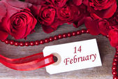Background with 14 February — Foto de Stock