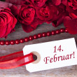 Rosy Background with 14. Februar — Stock Photo #39272783