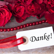 Background with Danke — Stock Photo