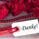 Background with Danke — Stock Photo