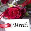 Background with Merci — Stock Photo