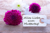 Label with Alles Liebe zum Muttertag — Stock Photo