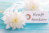 Label with Kraft Tanken — Stock Photo