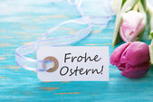 Banner with Frohe Ostern — Stockfoto