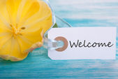 Welcome Tag — Stock Photo