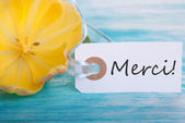 Merci Tag — Stock Photo