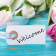 Label with Welcome — Stock Photo #40092863