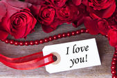 Label with I love You — Stock Photo