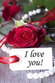 Tag with I love You — Stock Photo