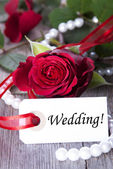 Label with Wedding — Stock Photo