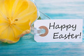 Tag with Happy Easter — Foto de Stock