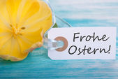 Banner with Frohe Ostern — Stock Photo