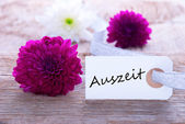 Label with Auszeit — Stock Photo