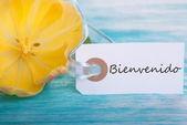 Tag with Bienvenido — Foto Stock