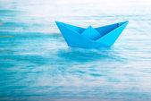 Boat alone in the Sea — Photo