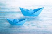 Båtar i havet — Stockfoto