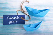 Thank You with Boats — Stock Photo