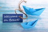 Välkommen ombord — Stockfoto