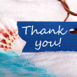Sea Label with Thank You — Stock Photo