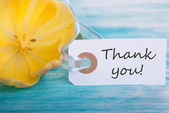 Banner with Thank You — Stock Photo