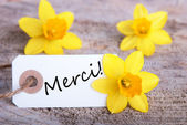 Tag with Merci — Stock Photo
