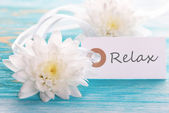 Label with Relax — Stock Photo