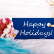 Label with Happy Holidays — Stock Photo #42912223