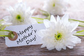Label with Happy Mothers Day — Stock Photo