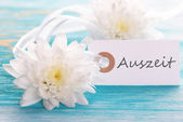 Tag with Auszeit — Stock Photo