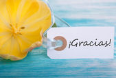 Banner with Gracias — Stock Photo