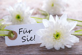 Label with Fuer Sie — Stock Photo