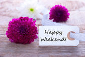 Label with Happy Weekend — Stock Photo