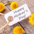 White Tag with Happy Mothers Day — Stock Photo