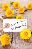 White Tag with am 11 Mai ist Muttertag — Stock Photo