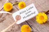 White Banner with Alles Liebe zum Muttertag — Stock Photo