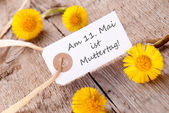 White Banner with Am 11 Mai ist Muttertag — Stock Photo