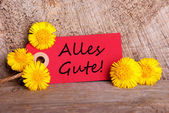 Red Tag with Alles Gute — Stock Photo