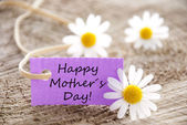 Purple Label with Happy Mothers Day — Стоковое фото
