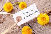 Banner with Schoenes Wochenende — Stock Photo