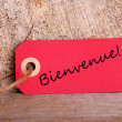 Red Tag with Bienvenue — Stock Photo #45911737