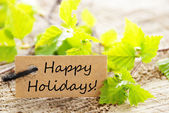 Label with Happy Holidays — Stock Photo