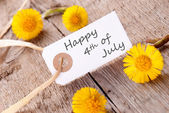 Happy 4th of July — Stock Photo